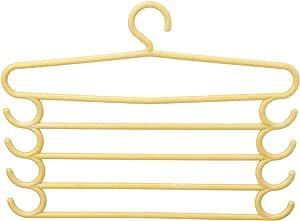شماعة ملابس متعددة المستويات - اصفر