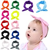Baby Girl Headband,Fascigirl 12 Pcs Baby Knotted Headwrap Hairband for Infant Toddlers