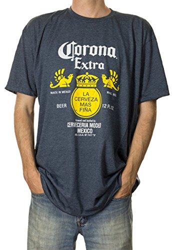 (Corona Bottle Label Men's T-Shirt (X-Large,)