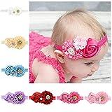 Zhao Xiemao Children's Hair Band Hair Accessories Rose Baby Baby Headband, 7 Packs.