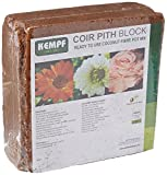 Kempf Compressed Coco Fiber Growing Potting Mix 10-Pound Block, Medium