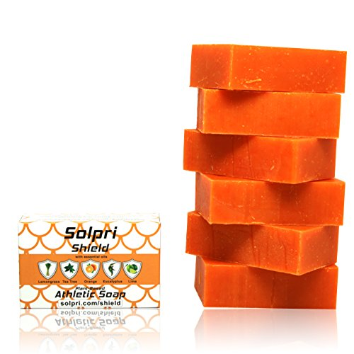 Solpri Shield Antifungal Soap Bar Lemongrass Tea Tree Eucalyptus 4 oz (6 Pack)