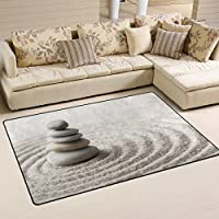 DEYYA Buddah Buddhist Zen Art Area Rug Carpet Non-Slip Floor Mat Doormats for Living Room Bedroom 30 x 21 inches