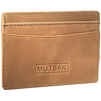 MUTBAK Bunker - Front Pocket Magnetic Money Clip Wallet with RFID/NFC Blocking (Durango)