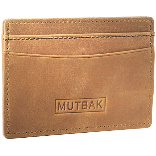MUTBAK Bunker - Front Pocket Magnetic Money Clip Wallet with RFID/NFC Blocking (Durango) ()