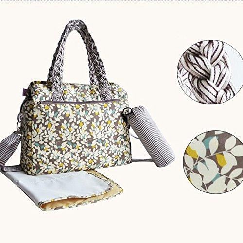 LCY Bosque–�?piezas, cambiador de bebé Set de bolso Beige Leaves Beige Leaves