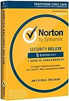 Norton Security Deluxe Antivirus Software 2018 | 5 Dispositivi (Licenza di 1 anno) | Compatibile con Mac, Windows, iOS e Android