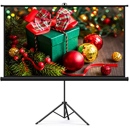 Projector Screen, Keenstone Projection Screen 4K 16:9 HD Foldable Wrinkle-Free Portable Movies Screen for Home Backyard Theater Outdoor Indoor (100 Inch)