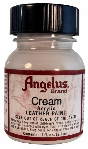 Springfield Leather Company's Cream Acrylic Leather Paint - Bright White Interior Paint