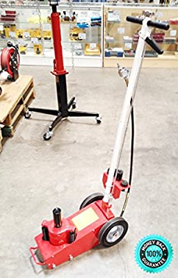 SKEMiDEX---CAR Garage 22 TON Axle AIR HYDRAULIC FLOOR JACK AUTO. A perfect Jack for Industrial Shop Garage or home use Repairing Trucks, Trailers, Buses and other Heavy Duty Equipment