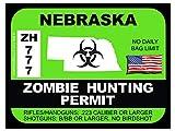 Nebraska Zombie Hunting Permit(Bumper Sticker)