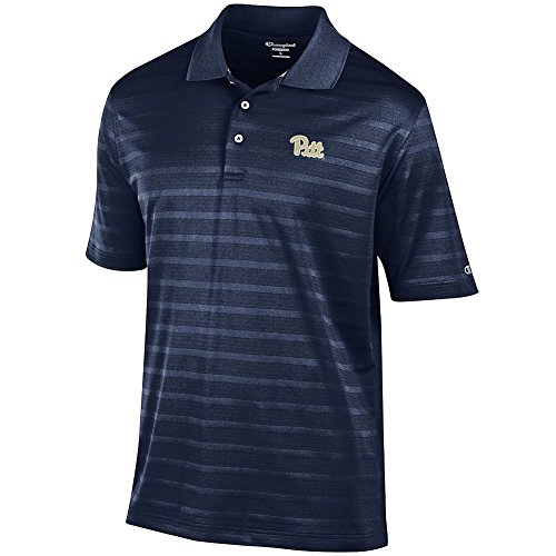 (Elite Fan Shop Pittsburgh Panthers Polo Striped Navy - L - Navy Blue)