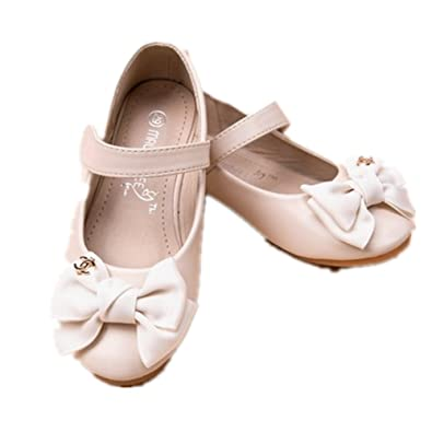 08488531ec72 PRETTYHOMEL Children Dress Shoes Girls Princess Sandals Kids Wedding Shoes  Party Shoes for Girls(Beige