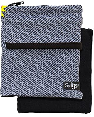 Sprigs Fleece Banjees Wrist Wallet,One Size,Geo Grey/Black