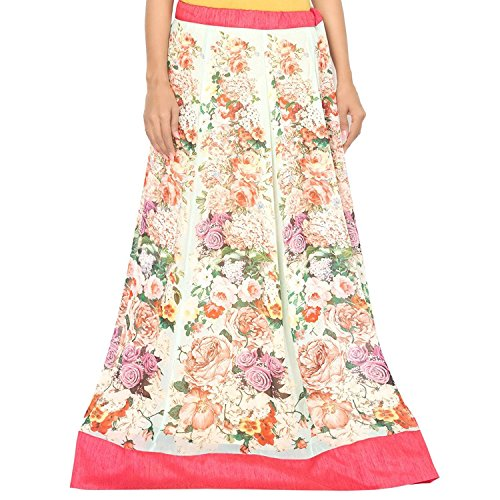 Indian Green Sea Skirt Handicrfats Admyrin Women Export Georgette rxgrvSHF