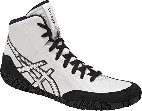 ASICS Men's Aggressor 3 Wrestling Shoe, White/White/Black, 10 Medium US