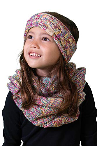Womens Angel Cap Little (Funky Junque K1-HWK-816.41 Kids Scarf & Headwrap - Rainbow 4#11)