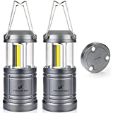 LED Camping Lantern - LED Camping Lantern Lights Collapsible - Moobibear 500lm COB Technology Camping Lantern Battery Powered with Magnetic Base for Night, Fishing, Hiking, Emergencies