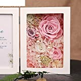 The imports rose Immortal flower photo frame Fresh rose Creative ornaments Mother's day-D
