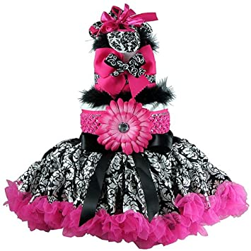 Amazon Hot Pink And Black Damask Tutu Baby Girl Diaper Cake