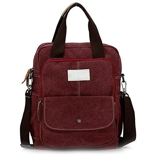 Hiigoo Retro Multifunction Canvas Shoulder Bags Handbags Crossbody Backpack