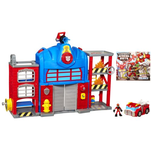 Transformers Rescue Bots Playskool Heroes Fire Station Prime image
