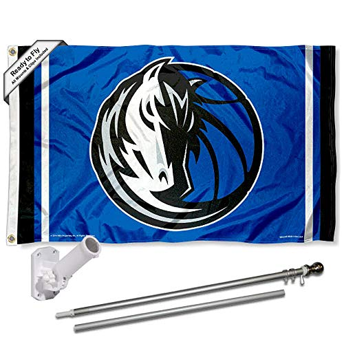 - WinCraft Dallas Mavericks Flag Pole and Bracket Set