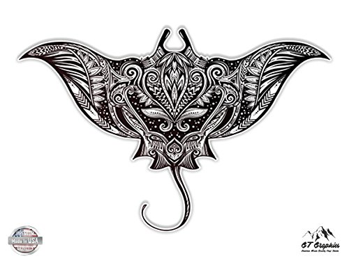 Manta Ray Beautiful Mandala Henna Style - 5