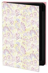 Keka SLP35-DC2-IPH5 Dawn Clarkson UK Designer Classic - Funda con tapa para iPhone 5, diseño de corazones