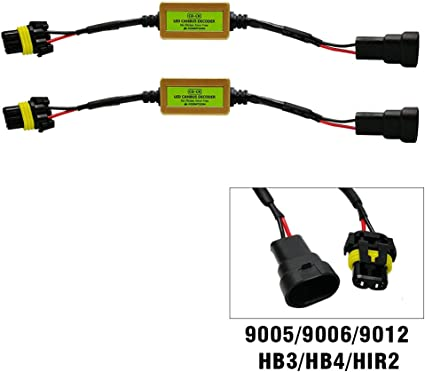 Koomtoom Canbus Decodificador 9012 HIR2 LED anti parpadeo arnés ...