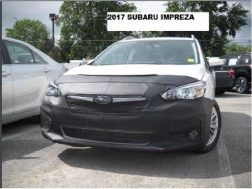 Lebra 2 piece Front End Cover Black - Car Mask Bra - Fits - Subaru Impreza 2017-2018 17-18 - Subaru Impreza Car Bra