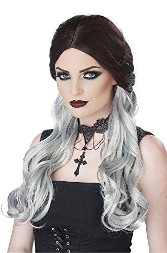 California Costumes Brown and Gray Morbid Mistress Wig-Standard