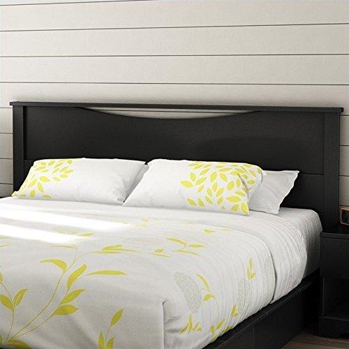 South Shore Furniture Contemporary Headboard (South Shore Step One Headboard, King, Pure Black)
