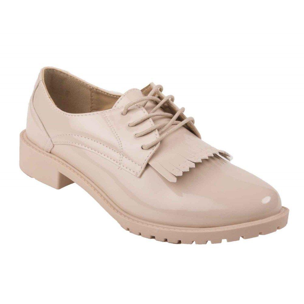 Primtex - Zapatos de Cordones de Material Sintético Mujer, beige (beige), 40 EU