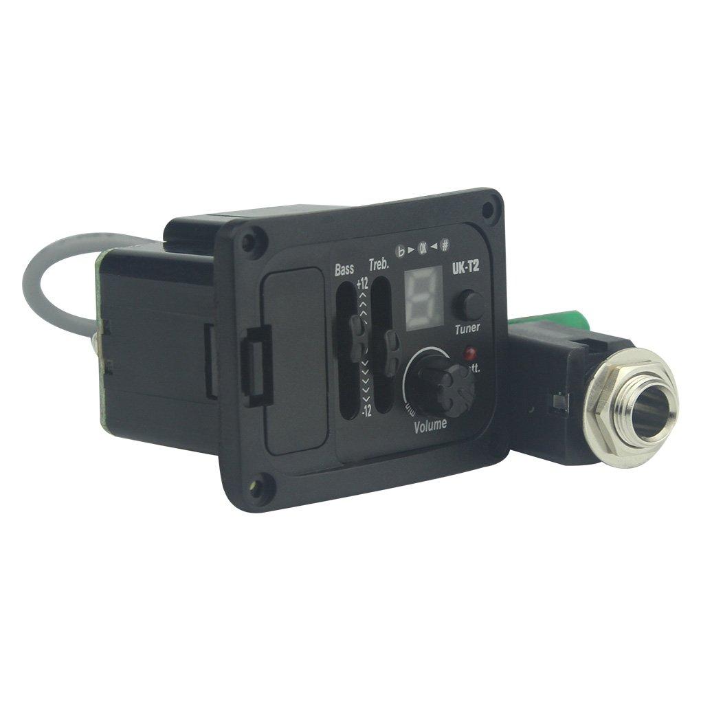 FLEOR 2 Bands EQ Pickup Tuner Equalizer with LCD Display & Volume Control For Ukelele by FLEOR (Image #2)