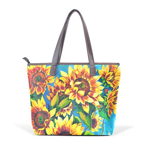 Patern Women Top Handbag Bags Ladies Handle Bennigiry Tote Large Shoulder Sunflower RqWSd8n