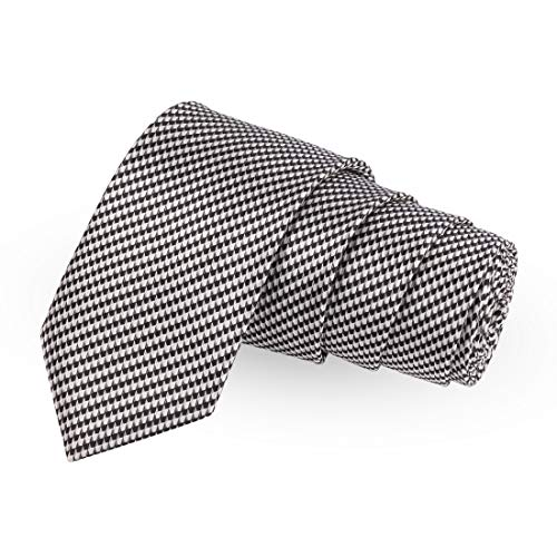 Peluche Stunning HT White Colored Microfiber Necktie For Men