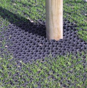 Heavy Duty Rubber Grass Mat 15m x 1m Childrens Playground Garden