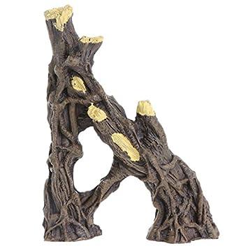 VDK Simulación tronco acuario pecera planta Stump ornamento reptil: Amazon.es: Productos para mascotas
