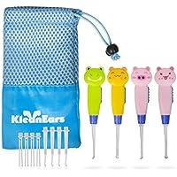 KleanEars Kids cérumen Remover outil Baby Safe 4 Pcs LED éclairage oreille Pick cuillère cérumen Remover Curette pinces oreille cuillère nettoyage