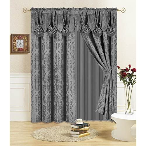 victorian window treatments traditional all american collection new piece drape set 84 victorian curtains amazoncom