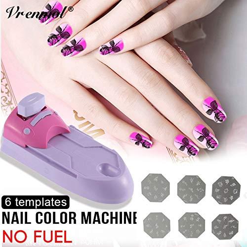 Amazon.com: Vrenmol DIY Nail Art Stamping Impresión Máquina ...