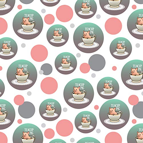 (GRAPHICS & MORE Teacup Pig Premium Gift Wrap Wrapping Paper Roll )