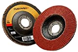 3M Cubitron II Flap Disc 967A, T29 Giant 4-1/2'' x 7/8'', 60+ Manufacturer Grade, Y-Weight (Pack of 10)