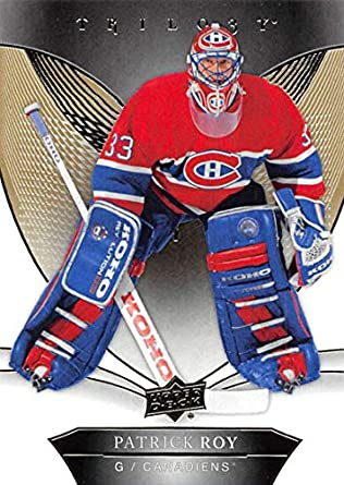 2a7b9731d 2018-19 Upper Deck Trilogy Hockey  50 Patrick Roy Montreal Canadiens  Official Trading Card