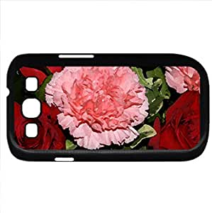 Carnations And Roses (Flowers Series) Watercolor style - Case Cover For Samsung Galaxy S3 i9300 (Black)