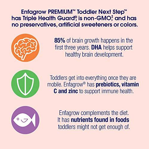 Enfagrow PREMIUM Next Step Toddler Milk Drink Powder, Natural Milk Flavor, 32 Ounce (Pack of 6), Omega 3 by Enfamil (Image #7)
