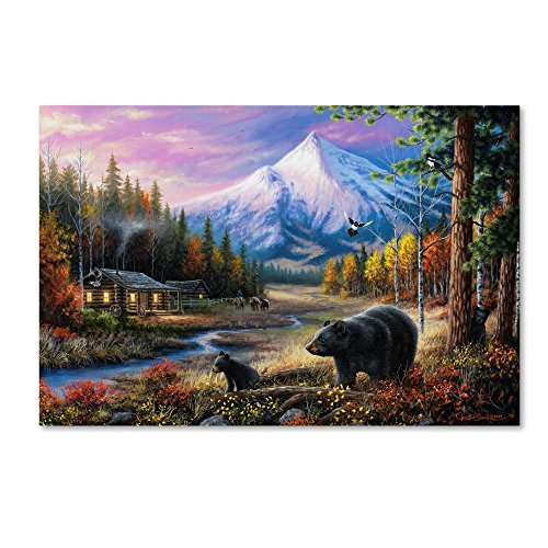 - Routine Visitors by Chuck Black, 22x32-Inch Canvas Wall Art