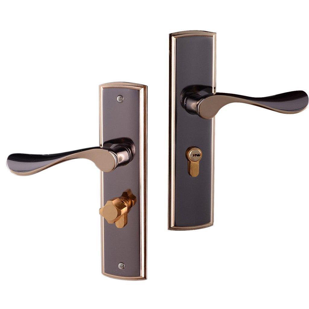 MagiDeal 3pcs Aluminum Alloy Door Handle Lock Home Entry Security Door Lockset for Bedroom Bathroom Latch 3 Keys by Unknown (Image #9)