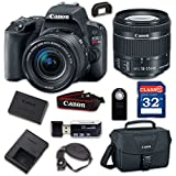 Canon EOS Rebel SL2 Digital SLR Camera & EF-S 18-55mm f/4-5.6 IS STM Lens - WiFi Enabled with 32GB Class 10 Memory Card, Wireless Remote & 100ES Shoulder Bag